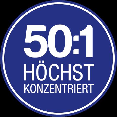 Icon: Höchste Konzentration 50 zu 1